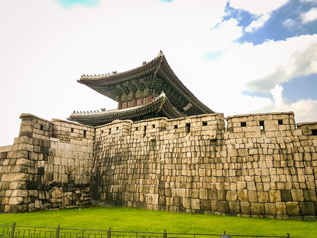 South Korean Wall and Fort complex. Very much one of the main attractions in the area and definitley a must see fr anyone visiting the area. Ancient site steeped in history Reklamní fotografie