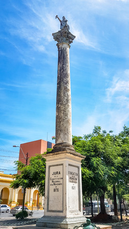 Asuncion Landmark Monument in Paraguay. Very much one of the main tourist attractions and points of interest in the area. 写真素材
