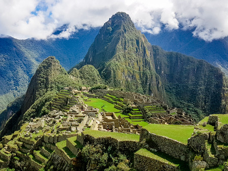 Inca mountain village Peru South America. Very much one of the main tourist attractions and points of interest in the area.