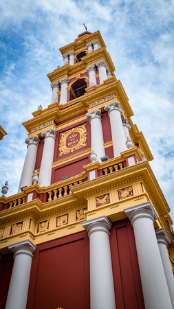 Church Cathedral in Salta Argentina. Very much one of the main tourist attractions and points of interest in the area. Stock Photo