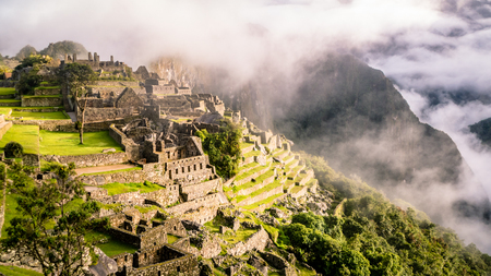 Inca Village in the mountains Peru South America. Very much one of the main tourist attractions and points of interest in the area. Standard-Bild