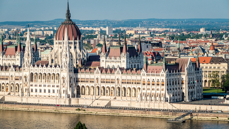 Amazing View of Budapest Cityscape and Skyline Hungary. Very much one of the main tourist attractions and points of interest in the area.