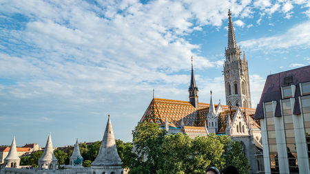 Budapest Church Cathedral Scene Hungary. Very much one of the main tourist attractions and points of interest in the area. 写真素材