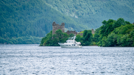Lochness Urquhart Castle Fort Ruins Scotland UK. Very much one of the main tourist attractions and points of interest in the area.