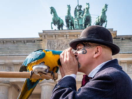 Tourists at Brandenburg Gate