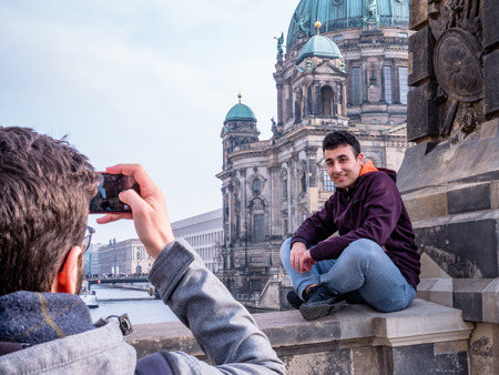 Tourists at the Berlin Berliner Dom Editorial