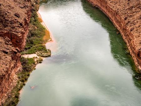 Marble Canyon Bridge and colorado river near Page Arizona