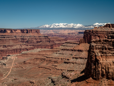 Amazing vistas and scenary from the grand view point in the Canyonlands National Park