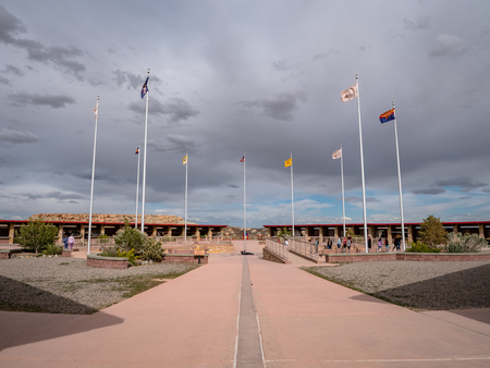 Four Corners Monument where New Mexico, Utah, Arizona and Colorado meet 報道画像
