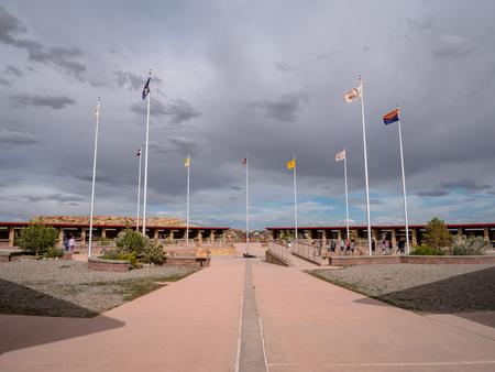 Four Corners Monument where New Mexico, Utah, Arizona and Colorado meet Редакционное