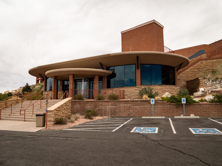 The Meteor Crater Visitor Center near winslow arizona. Top tourist attraction in the local area Фото со стока - 122971901