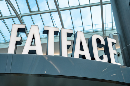 FATFACE Company logo at Gatwick Airport UK