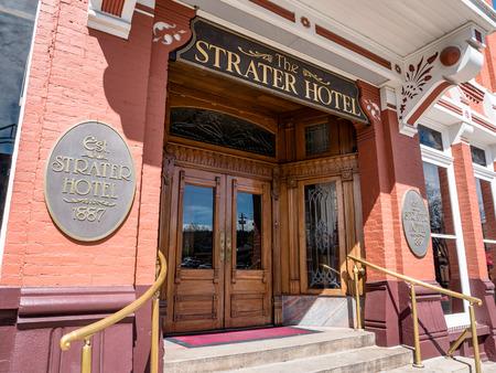 The Strater Hotel of Durango Colorado USA Редакционное