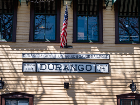 Vintage Tourist attraction Durango Colorado Train station building 報道画像