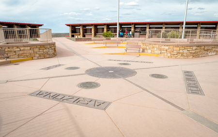 Four Corners Monument where New Mexico, Utah, Arizona and Colorado meet Sajtókép