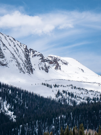 Magestic snowy Colorado mountains and tree scenes from Durango to Silverton Stok Fotoğraf