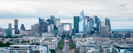 Panoramic View of the La Défense business district from the top of the Arc de TriomphePlace Charles de Gaulle