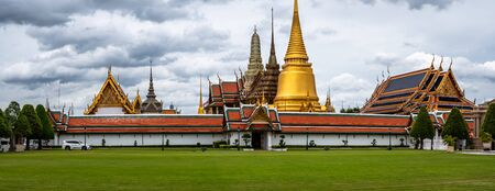 Panorama of the Grand Palace entrance in Bangkok Thailand. Must visit site for tourists and holiday makers