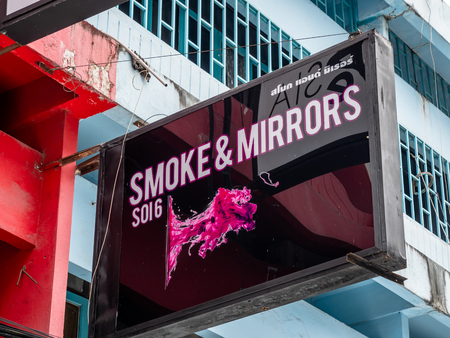 Pattaya, Thailand - August 1, 2019: Collection of bar, club and gogo signs from the famous soi 6 street in pattaya thailand Редакционное