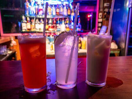 Exotic Cocktails on the Thai Island of Koh Samet Thailand South East Asia Zdjęcie Seryjne