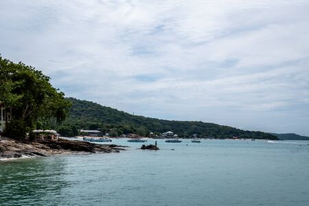 Beach, Boats and Coastline of the Thailand of Koh Samet Rayong Province