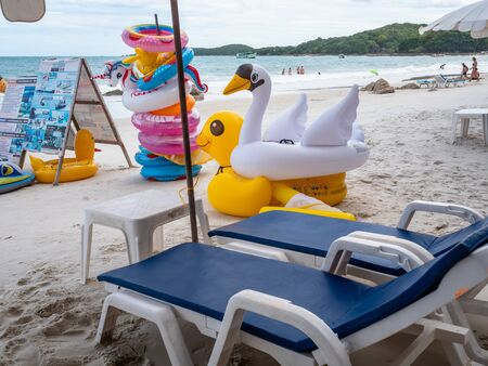 Childrens inflatables for rent for use in the gorgeous waters of Koh Samet Thailand Zdjęcie Seryjne