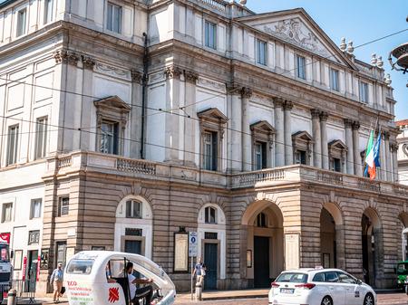 Teatro alla Scala Milan Italy. Lavish, 18th-century theatre, famous for Italian opera & ballets, with a museum & music library.