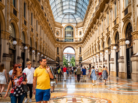 Galleria Vittorio Emanuele II the famous shipping arcade mall in the center of Milan close to the Piazza Del Duomo