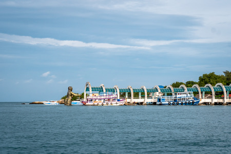 Sailing to Nadan Pier Dock on the island of Koh Samet Thailand South East Asia Publikacyjne