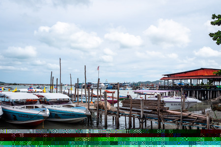 Rayong Dock Passenger Terminal used to get to islands such as Koh Samet Thailand via slow boat and speed boat