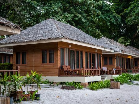 Luxury Private Hut accomadation on the island of Koh Samet Thailand Standard-Bild - 128987731