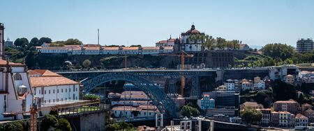 Porto Portugal Cityscape Skyline view of Porto old town Shot Midday in Summer panoramic views No People September 1, 2019, This popular terrace offers dramatic, panoramic views of city rooftops & the Standard-Bild - 139857605