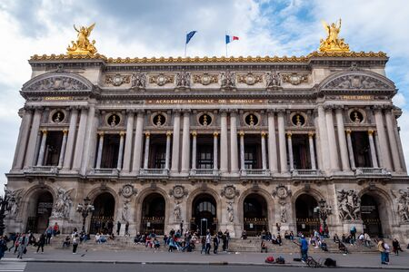 The Palais Garnier opera house theatre Library and Museum in Paris, France. Close Up no People Editorial