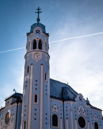The Blue Church or The Church of St. Elizabeth or Modry Kostol Svatej Alzbety in the Old Town in Bratislava, Slovakia. Blue Church is a Hungarian Secessionist Catholic cathedral.