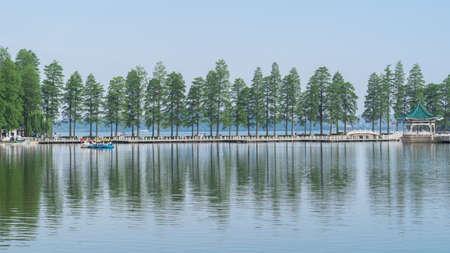 Liyuan Park at East Lake, Wuhan.