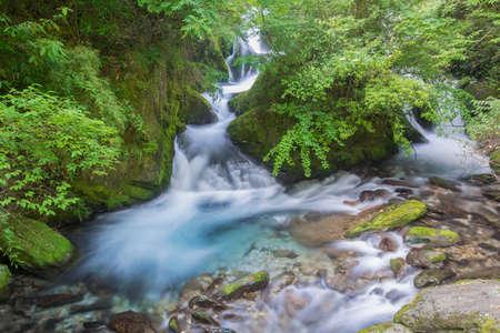 Shennongjia Xiangxi water falls in early summer Stock Photo