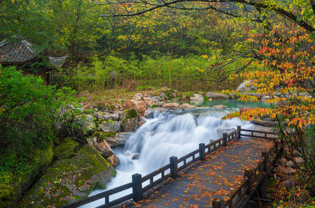 Shennongjia Xiangxi Wasser fällt