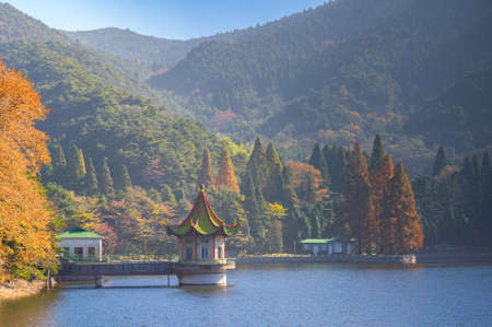 The early autumn landscape of Mount Lu
