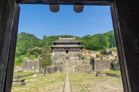 Five Dragon Palace scenery in Wudang Mountains, Hubei, China 新聞圖片