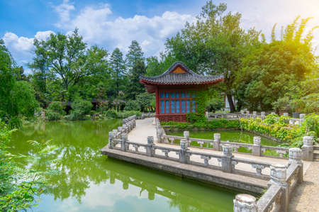 Wuhan East Lake Moshan Summer Scenery 写真素材