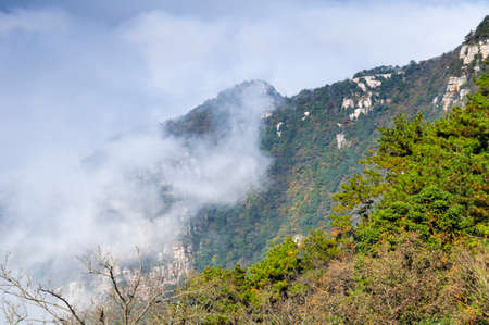 Autumn scenery of Jiangxi Jiujiang Lushan Geological Park
