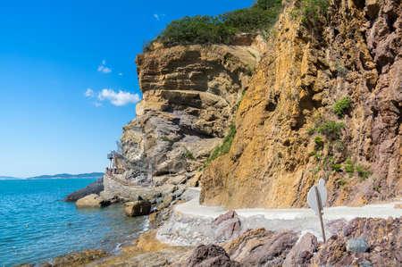 Dalian Golden Pebble Beach scenery Banco de Imagens