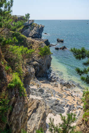 Dalian Golden Pebble Beach scenery 版權商用圖片