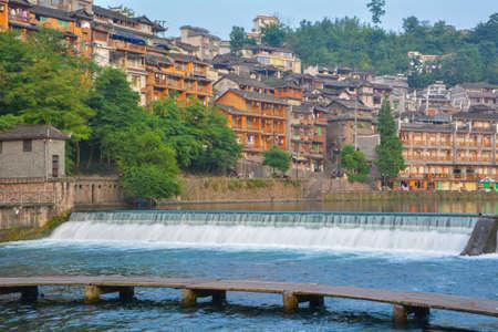 Hunan Xiangxi Fenghuang Ancient City Summer Scenery