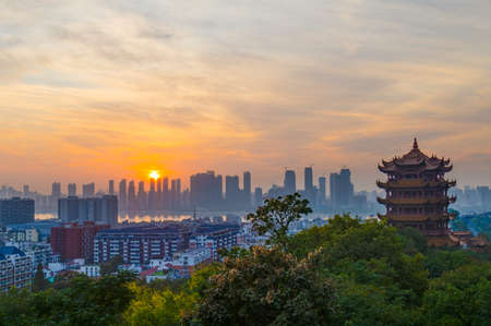 Wuhan Yellow Crane Tower Park Sunset Sunset Scenery