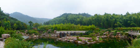 Summer scenery of Zhuhai Scenic Spot, Yixing, Jiangsu