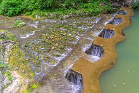 Summer scenery of the Three Gorges Great Falls Scenic Area in Yichang, Hubei