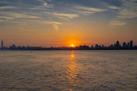 Wuhan Summer City Skyline Sunrise Scenery