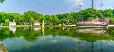 Summer scenery of Wuhan East Lake Scenic Area