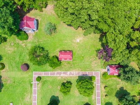 Wuhan East Lake Scenic Area Summer Aerial Scenery Archivio Fotografico